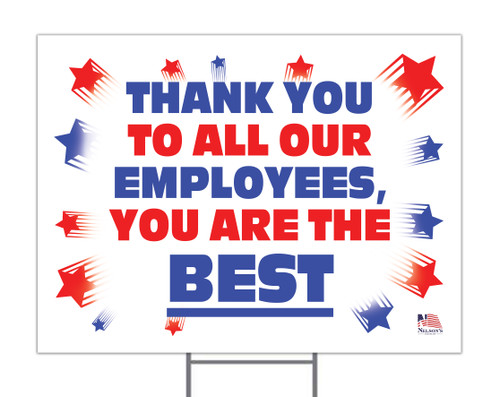 Thank You Employees Yard Sign