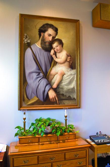 St. Joseph and the Infant Jesus by Ricardo Balaca Church-Sized Canvas Framed Art