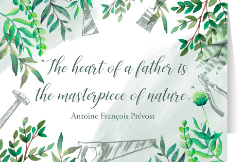 """The Heart of a Father"" Father's Day Greeting Card"