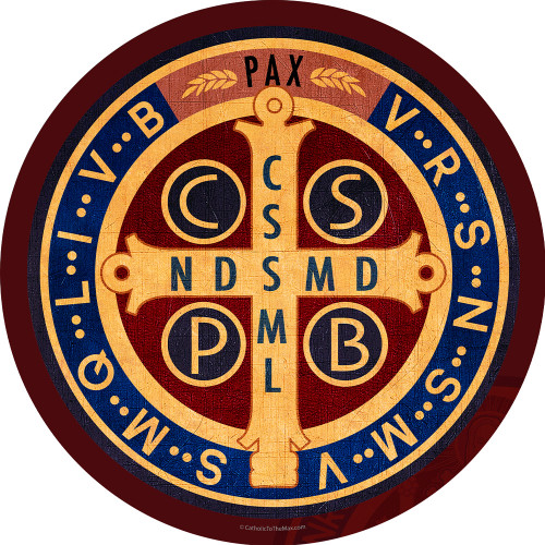 Benedictine Medal Emblem Indoor Outdoor Aluminum Print