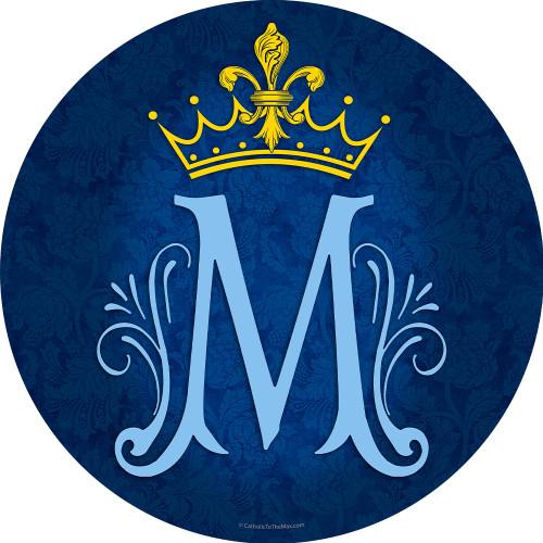 Marian Symbol Emblem Indoor Outdoor Aluminum Print