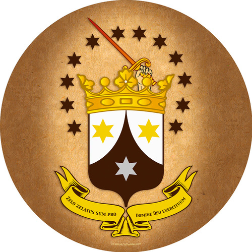 Ancient Carmelite Crest Emblem Decal