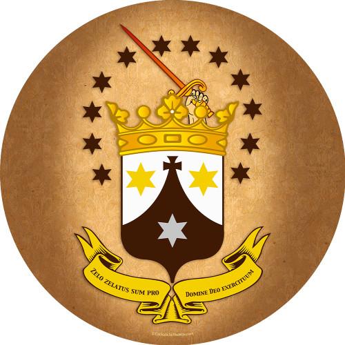 Discalced Carmelite Crest Emblem Decal