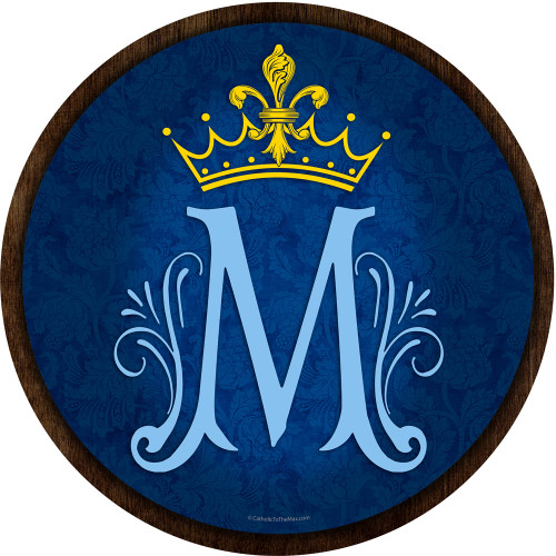 Marian Symbol Emblem Outdoor Poly Wood Plaque