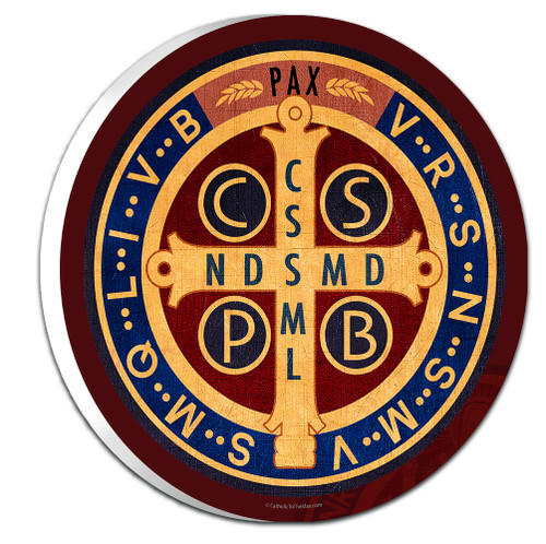Benedictine Medal Emblem Outdoor Plaque