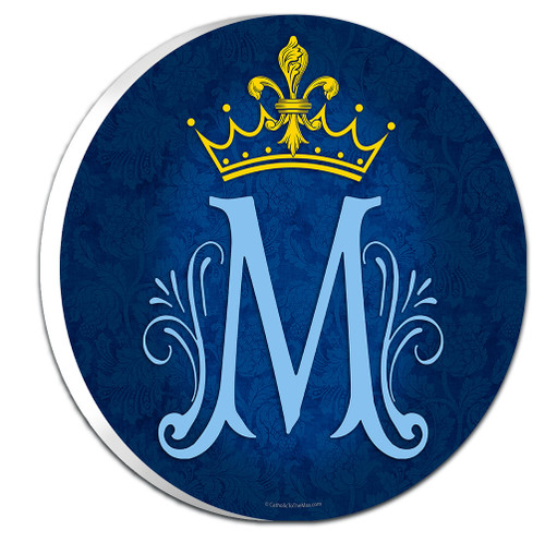 Marian Symbol Emblem Outdoor Plaque