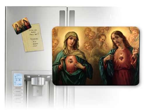 Sacred and Immaculate Hearts Magnet