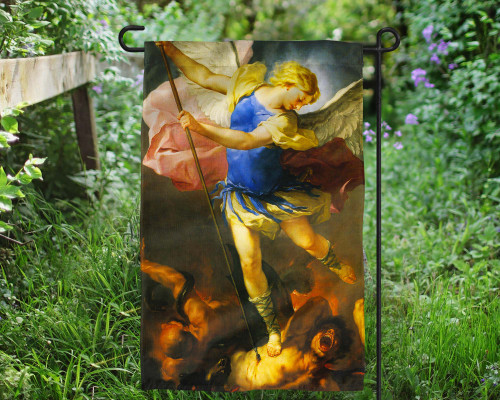 St. Michael by Giordano Outdoor Garden Flag