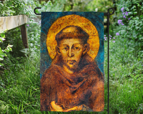 St. Francis (Detail) Outdoor Garden Flag