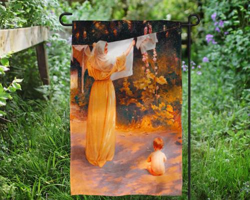 Polish Madonna Outdoor Garden Flag