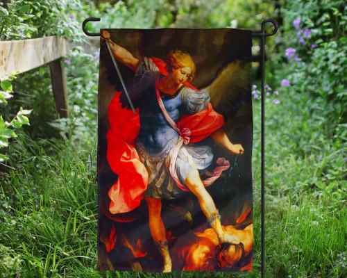 St. Michael the Archangel Outdoor Garden Flag