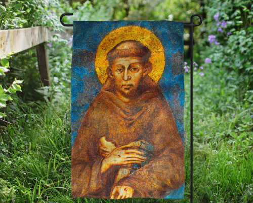St. Francis of Assisi Outdoor Garden Flag