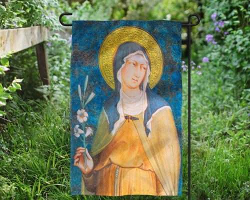 St. Clare of Assisi Outdoor Garden Flag
