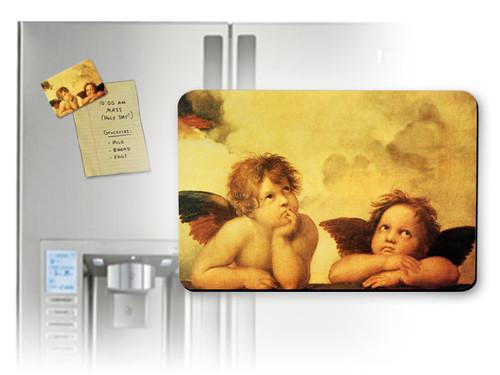 Sistine Madonna Angels Magnet