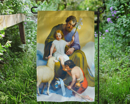 St. Joseph Guardian of Sons Outdoor Garden Flag