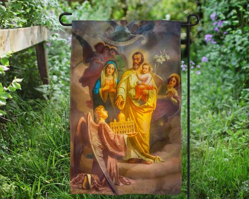 St. Joseph Patron of the Universal Church Outdoor Garden Flag