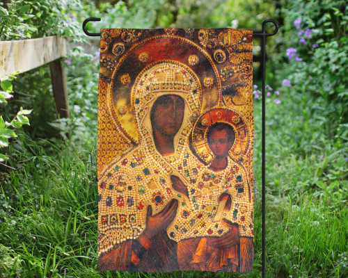 Virgin of Smolensk Outdoor Garden Flag
