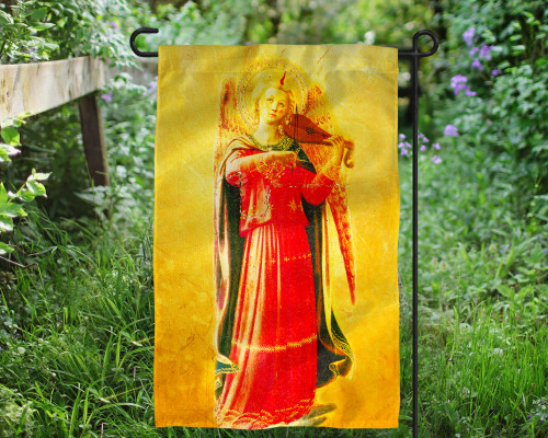 Fra Angelico Angel with Violin Outdoor Garden Flag