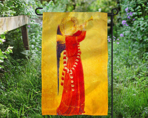 Fra Angelico Angel with Trumpet Outdoor Garden Flag