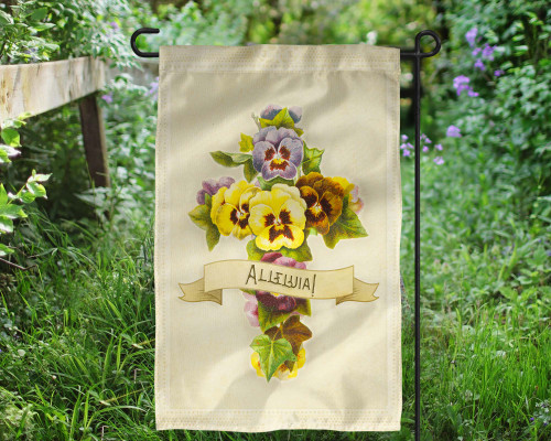 Alleluia Outdoor Garden Flag