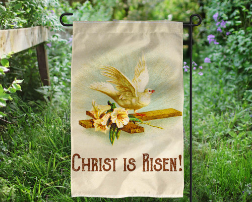 Christ is Risen Outdoor Garden Flag