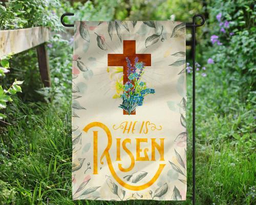 He is Risen Outdoor Garden Flag