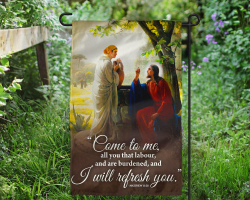 Come to Me Outdoor Garden Flag