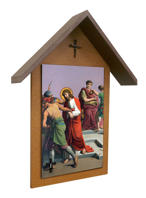 St. Peter's Stations of the Cross Simple Poly Wood Outdoor Shrine (Set of 14)