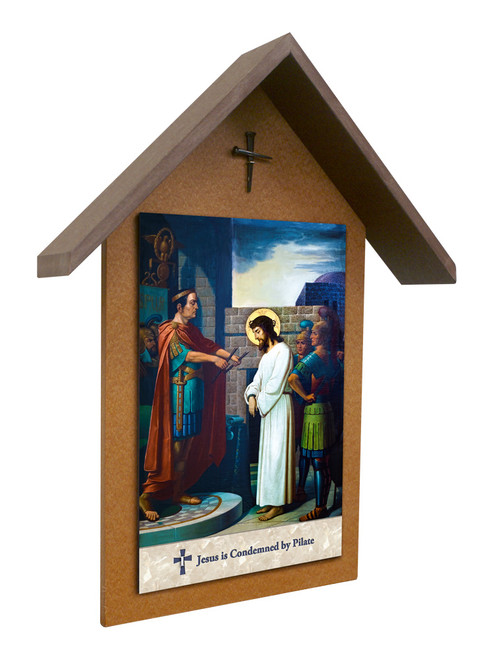 Emmerich Stations of the Cross Simple Poly Wood Outdoor Shrine (Set of 14)