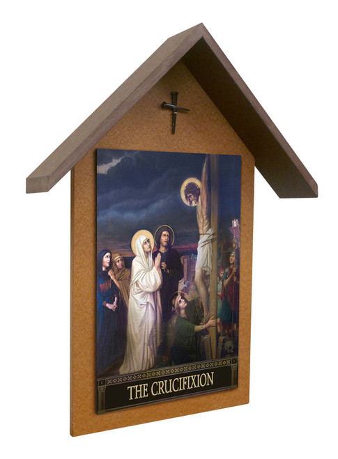 The Seven Sorrows of Mary Simple Poly Wood Outdoor Shrine (Set of 7)