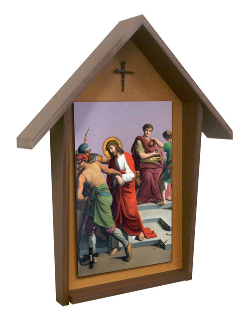 St. Peter's Stations of the Cross Deluxe Poly Wood Outdoor Shrine (Set of 14)