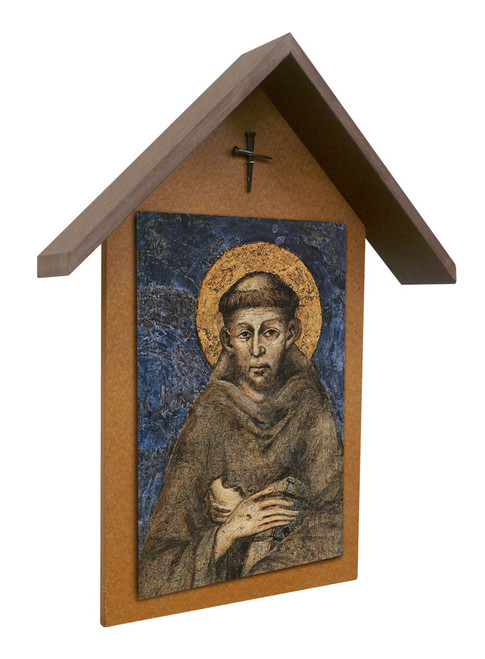 St. Francis by Cimabue Simple Poly Wood Outdoor Shrine