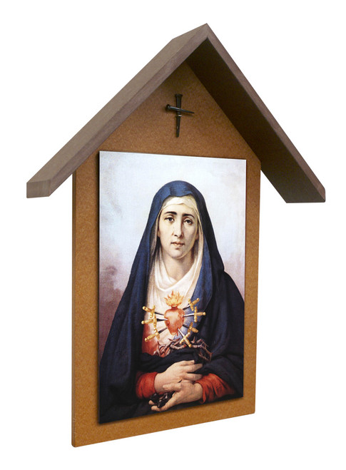 Sorrowful Mother Simple Poly Wood Outdoor Shrine