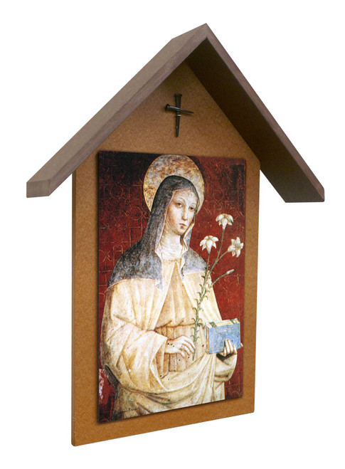 St. Clare Simple Poly Wood Outdoor Shrine