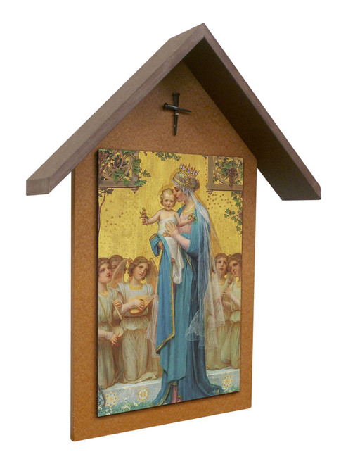 Madonna and Child by Enric M. Vidal Simple Poly Wood Outdoor Shrine