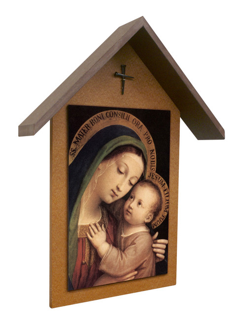 Our Lady of Good Counsel Simple Poly Wood Outdoor Shrine