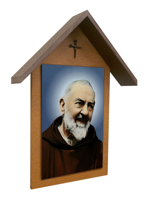 Padre Pio Simple Poly Wood Outdoor Shrine