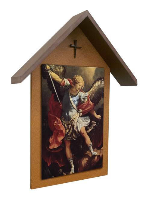 St. Michael the Archangel Simple Poly Wood Outdoor Shrine