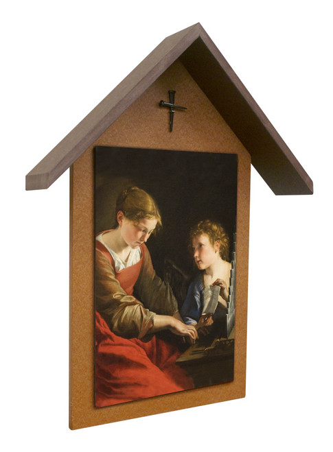 St. Cecilia Simple Poly Wood Outdoor Shrine