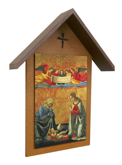 Nativity by Ghirlandaio Simple Poly Wood Outdoor Shrine