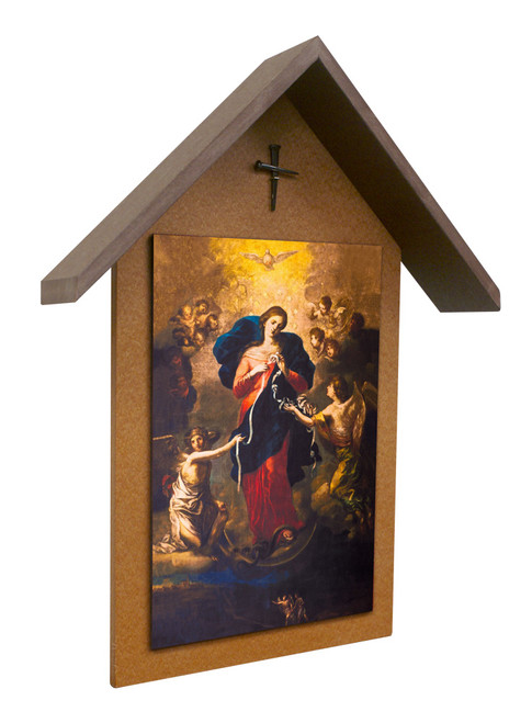 Mary Undoer of Knots Simple Poly Wood Outdoor Shrine