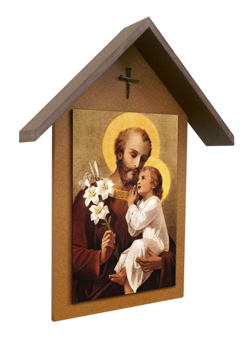 St. Joseph (Younger) Simple Poly Wood Outdoor Shrine