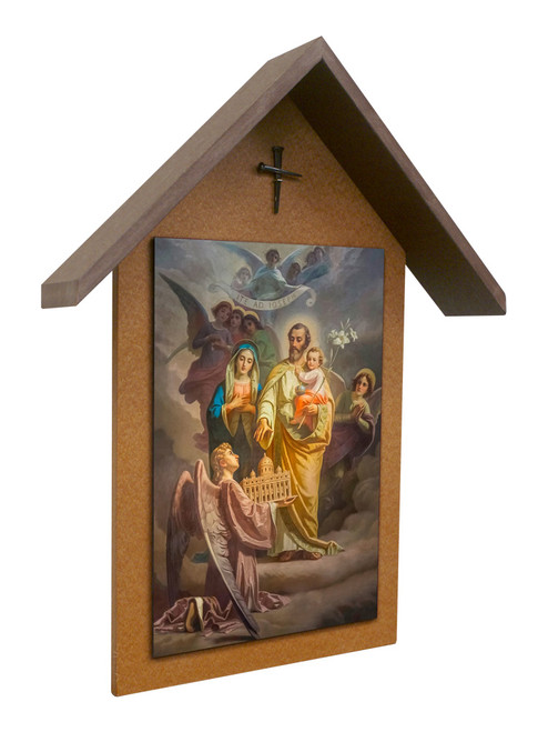 St. Joseph Patron of the Universal Church Simple Poly Wood Outdoor Shrine