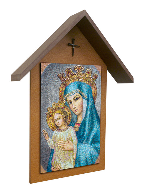 Mater Ecclesiae Mosaic Simple Poly Wood Outdoor Shrine