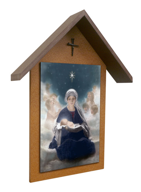 Star of Bethlehem Simple Poly Wood Outdoor Shrine