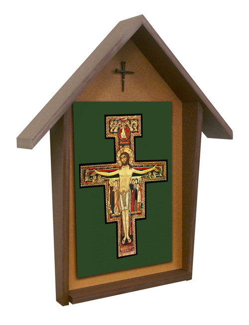 San Damiano Deluxe Poly Wood Outdoor Shrine