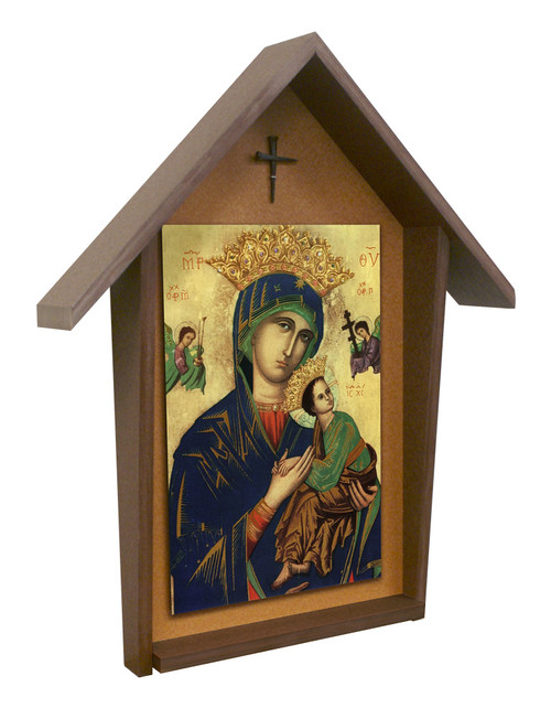 Our Lady of Perpetual Help Deluxe Poly Wood Outdoor Shrine