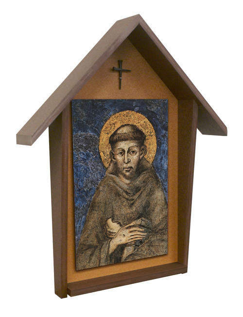 St. Francis by Cimabue Deluxe Poly Wood Outdoor Shrine