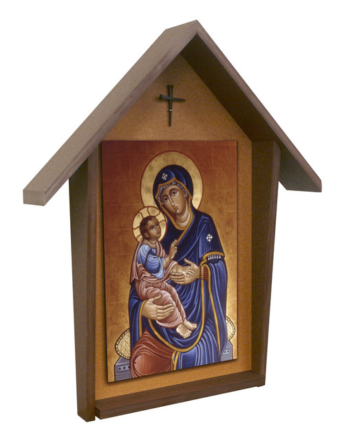 Our Lady of Good Health Deluxe Poly Wood Outdoor Shrine