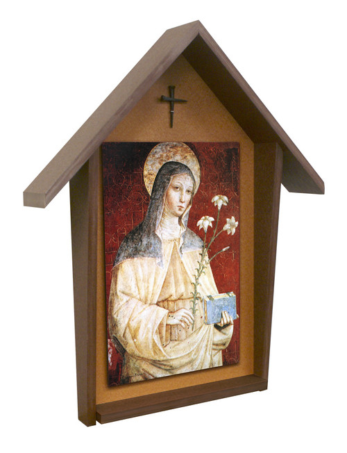 St. Clare Deluxe Poly Wood Outdoor Shrine